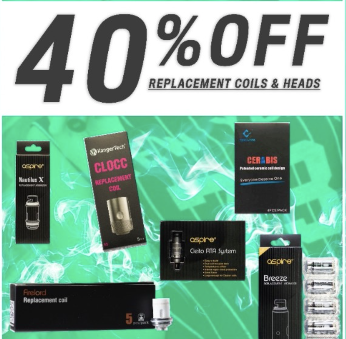 40% off Vape Coils for your Tank
